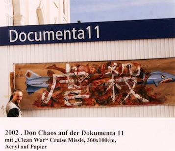 2002, Mike Spike Froidl auf der Documenta 11 mit